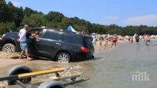 Тарикат затъна с джипа си на плаж Перла (ВИДЕО)