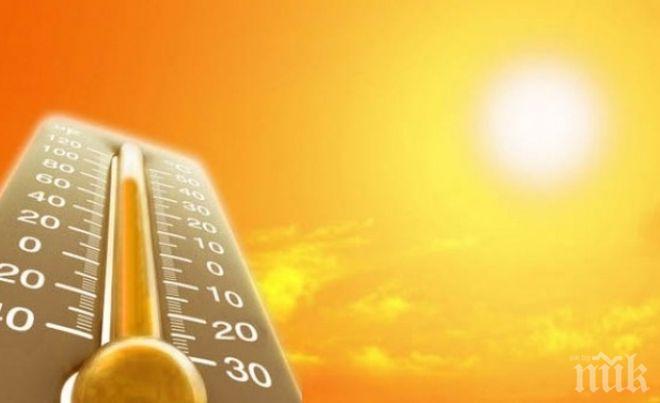 АД ПОД НЕБЕТО: Опасни жеги ни морят днес, ето къде температурите ще подминат 35 градуса (КАРТА)