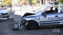 ИЗВЪНРЕДНО! Катастрофа с патрулка в София