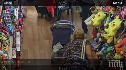 ДРЪЖТЕ КРАДЕЦА: Туристка сви портмоне от детски магазин в Слънчев бряг (ВИДЕО/СНИМКИ)