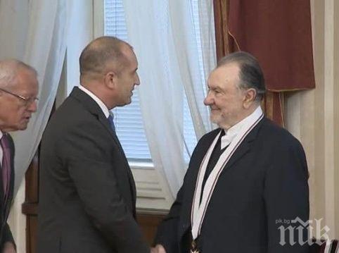 Актьорът Васил Михайлов получи най-високото държавно отличие