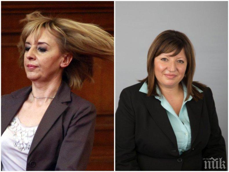 Депутатка от ГЕРБ скочи: Защо Мая Манолова не въведе машинното гласуване, когато управляваха с Орешарски?!