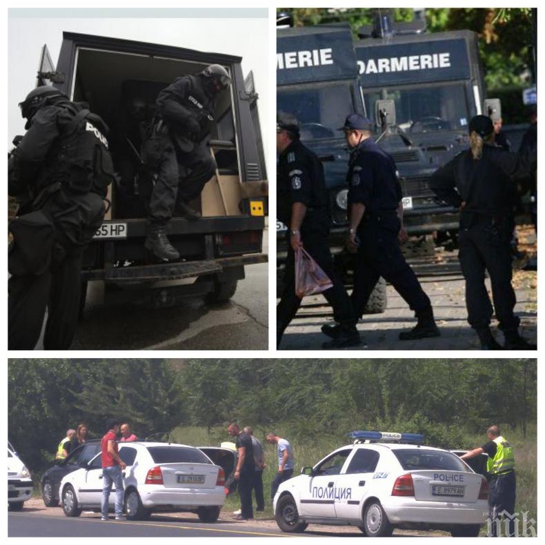 ПЪРВО В ПИК: Сандански почерня от полиция! Жандармерия блокира града, върви специализирана акция (ОБНОВЕНА)