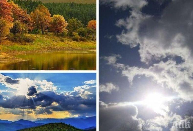 КАПРИЗИ НА ВРЕМЕТО: Захлаждането продължава. Денят ще бъде с променлива облачност, намаляваща до слънчево (КАРТА)