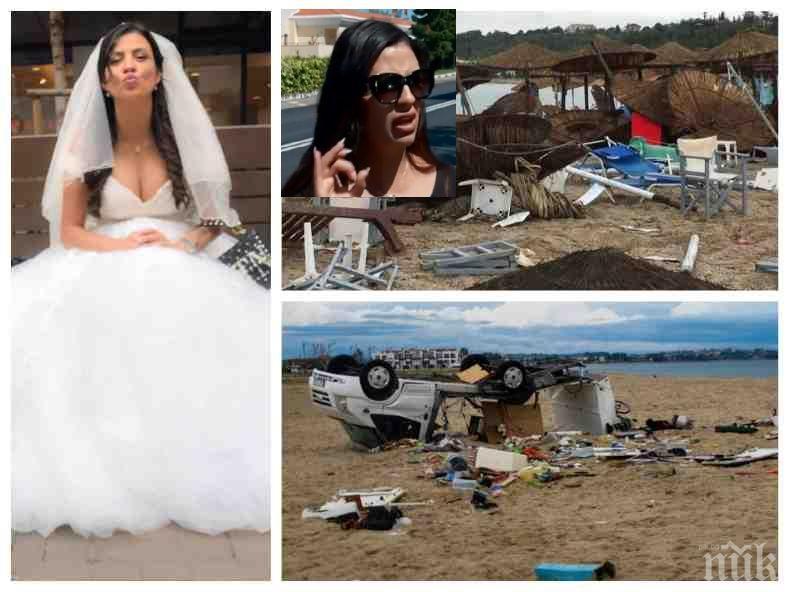 МЕДЕН МЕСЕЦ! Деси Цонева в окото на смъртоносната буря на Халкидики: Ето какво разказва младата булка за ужаса в Гърция