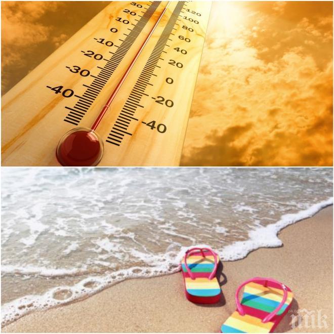 ЖЕГИТЕ ЧУКАТ НА ВРАТАТА: Температурите тръгват нагоре - ето къде ще е най-топло днес (КАРТА)