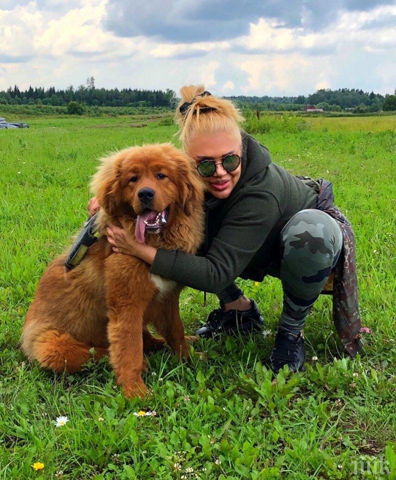 Ваня Червенкова се влюби в тибетски мастиф (СНИМКИ)