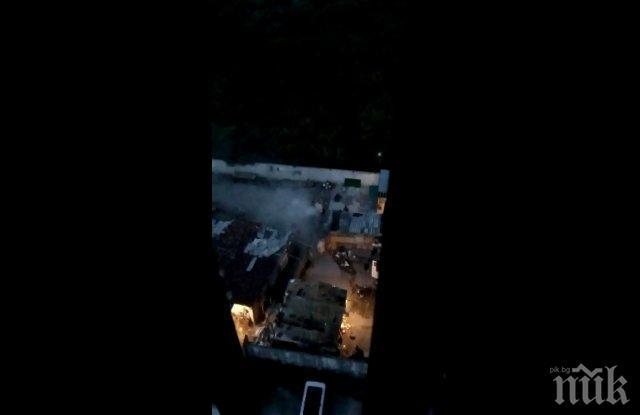 ОБГАЗЯВАНЕ: Роми горят гуми в центъра на Пловдив