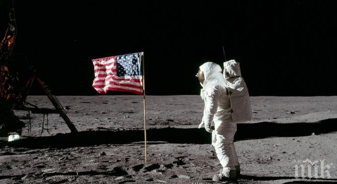 Днес се навършват 50 години от първото стъпване на човек на Луната