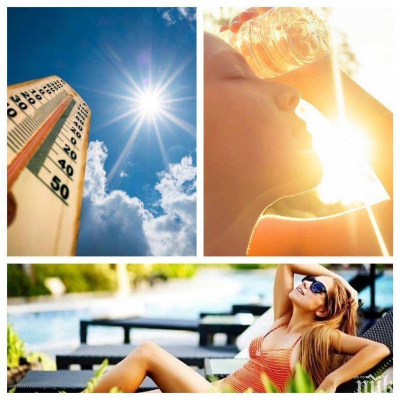 НЕКА ДА Е ЛЯТО: Новата седмица идва с горещо време - ето къде ще е най-топло (КАРТА)
