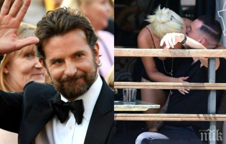 ОТ ДВА СТОЛА НА ЗЕМЯТА: Брадли Купър зарязан от Лейди Гага. Певицата изловена да се целува с друг (СНИМКА)