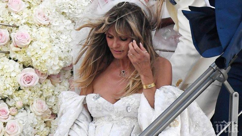 КАКЪВ РАЗКОШ: Хайди Клум се омъжи на яхтата на Джаки Кенеди (СНИМКА)