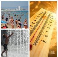 ЖЕГАТА ОТНОВО НИ МОРИ: Жълт код за опасно горещо време, ето къде термометрите ще подминат 35 градуса (КАРТА)