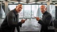 """Новият """"Бързи и яростни"""" със Скалата и Джейсън Стейтъм изкара $ 180 млн. за седем дни"""