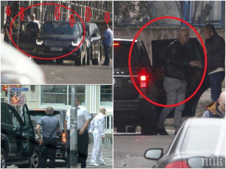 """Слави Трифонов с повече охрана от мутрите! Брониран джип, кортеж от мощни коли и седем въоръжени гардове движат с Дългия  като бос на """"Меделин"""" (СНИМКИ)"""