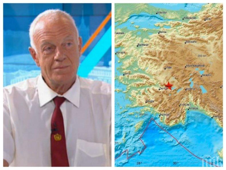 ТОП СЕИЗМОЛОГ: Проф. Милошев разкри дали трябва да се страхуваме от разрушителните трусове в Турция