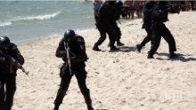 Командоси окупираха плажа във Варна, шашнаха туристите (СНИМКИ)