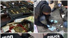 """МЪЛНИЯ В ПИК: Ударът на антимафиотите в """"Манастирски ливади"""" е крупен! Ето зловещия арсенал от оръжия и дрога в разбития гараж (СНИМКИ)"""