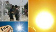 ЖЕГИТЕ ПРОДЪЛЖАВАТ: Термометрите ще стигнат 38 градуса. Предупреждение за опасни горещини в 14 области (КАРТИ)