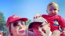 БАРОВКА: Бебето на Антония Петрова обикаля света - миската не се спира от почивки