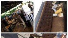 """Арестуваха и един от нападателите в грандиозния погром над столичното заведение """"Бесо"""""""