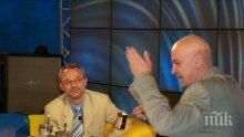 Новият чалга политик Слави слуша внимателно Сарая