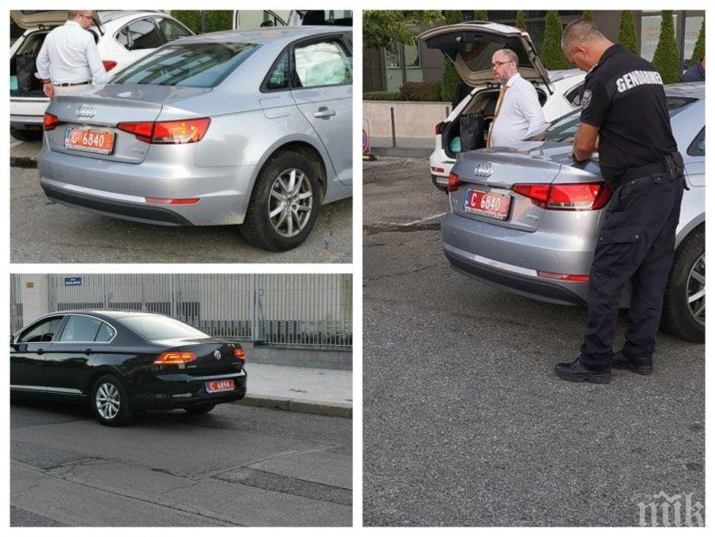 ШОКИРАЩ ИНЦИДЕНТ: Шофьори на посланик Анатолий Макаров се сблъскаха пред Руското посолство (СНИМКИ)