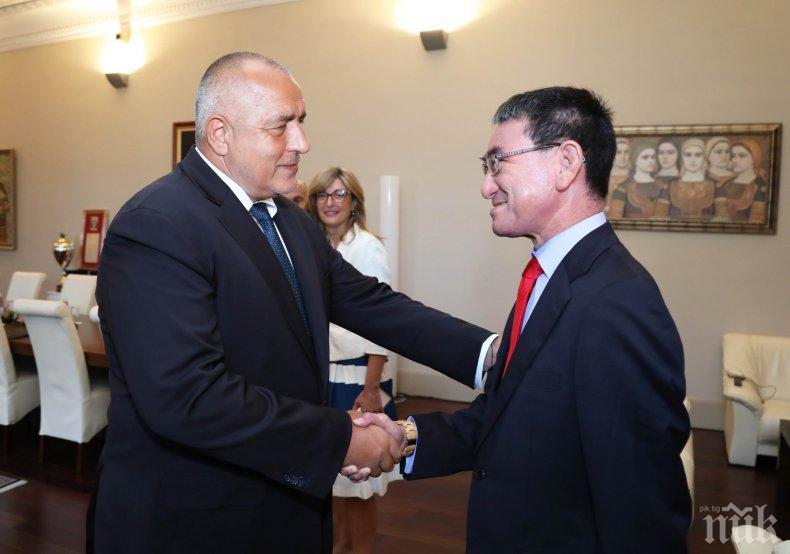 ПЪРВО В ПИК: Борисов с важна среща с японския външен министър