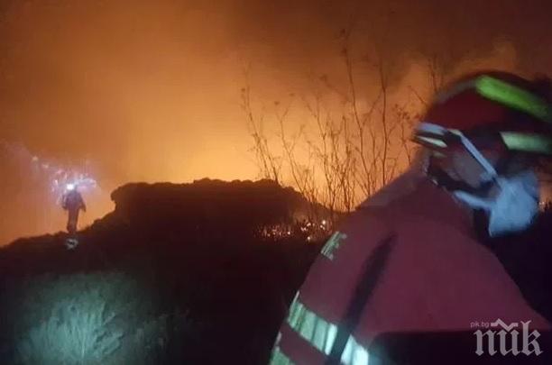 "ИЗВЪНРЕДНО: Пожар избухна в Благоевградско близо до магистрала ""Струма"""