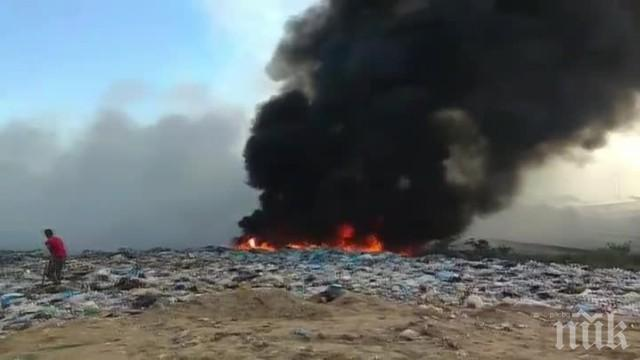 """Отнемат лиценза на фирмата, която предизвика пожара край """"Струма"""""""