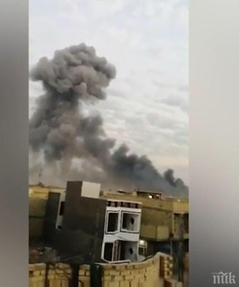 Един загинал и най-малка още 29 пострадали при взрив в предградие на Багдад (ВИДЕО)