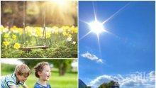 ПАК ЖЕГА: Слънцето напича и вдига температурите до 34 градуса, вятърът носи още пек