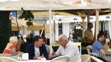 Зико и Тотев коментират на кафе изборите в Пловдив