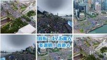 Десетки хиляди на протест под дъжда в Хонконг
