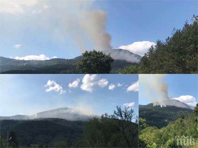 ИЗВЪНРЕДНО: Пожарът край София се разраства - има изгорели къщи