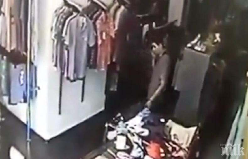 БЪРЗИ РЪЦЕ: Мъж открадна два дневни оборота от магазин в София
