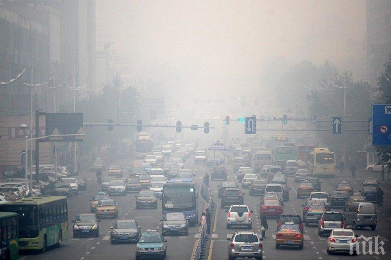 Дишането на мръсен градски въздух е равносилно на изпушен пакет цигари