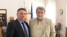ПРЕВЕНЦИЯ: Вежди Рашидов и министър Кирилов обсъдиха трафика с арт ценности