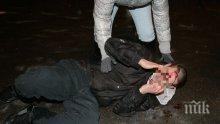 БРУТАЛНО: Нападнаха с бокс и резачка пастора на църквата в Разлог, стъкла хвърчат над главата на 5-годишно дете (СНИМКИ)