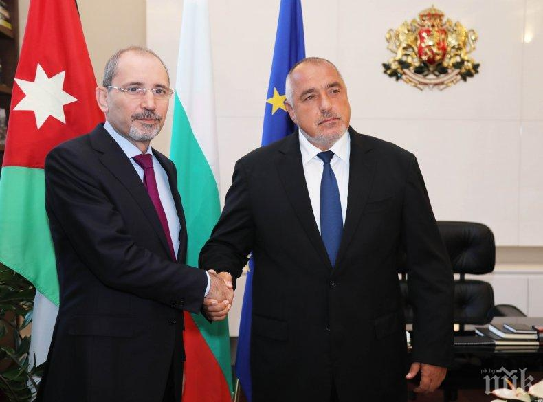 ПЪРВО В ПИК: Борисов прие министъра на външните работи на Йордания Айман Ал-Сафади
