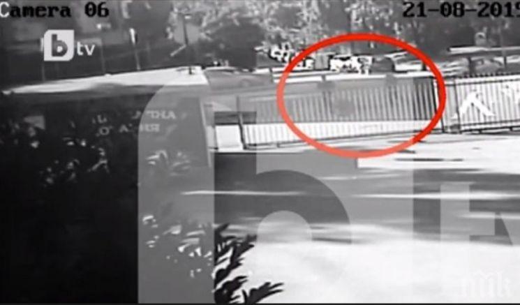 """Охранителни камери засекли биячите на директора от """"Левски"""""""