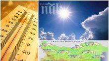 ЖЕГАТА ОСТАВА: И днес слънцето ще пече яко - живакът скача до 36 градуса (КАРТА)