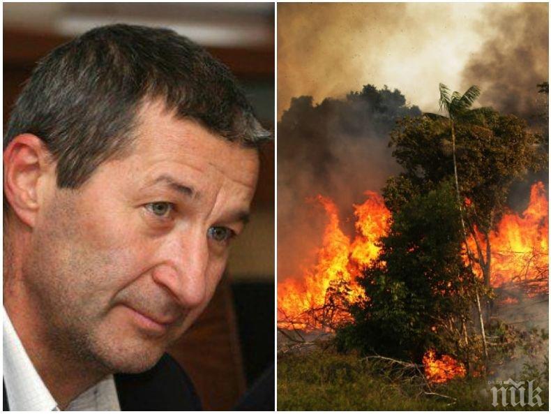 ПЪРВО В ПИК! Владимир Каролев с ударен коментар за истерията с пожара в Амазония: И преди е имало и то с много повече щети
