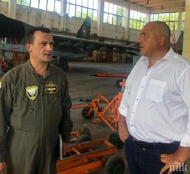 ПЪРВО В ПИК! Бойко Борисов: Очаквам най-скоро ремонтът на самолетите Су-25 да започне, осигурени са парите (СНИМКИ)