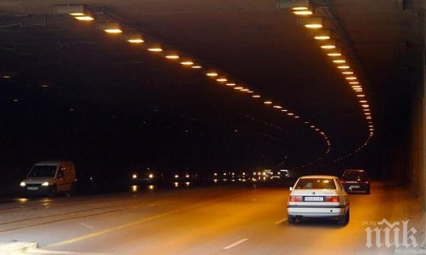 """Затварят тунела на """"Люлин"""" в столицата тази нощ"""