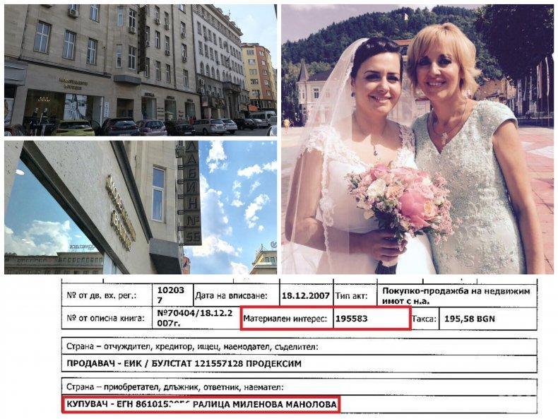 """БОМБА В ПИК: Дъщерята на Мая Манолова, едва на 21, вади 100 000 евро за лукс имот на пъпа на София. Сделката е под пазарната цена - съмнения за укрити данъци. Сега там се шири...Ангел Найденов, но плаща ли наем? Съсобственик - """"протестърката"""" Мария Капон (СНИМКИ/ДОКУМЕНТИ)"""