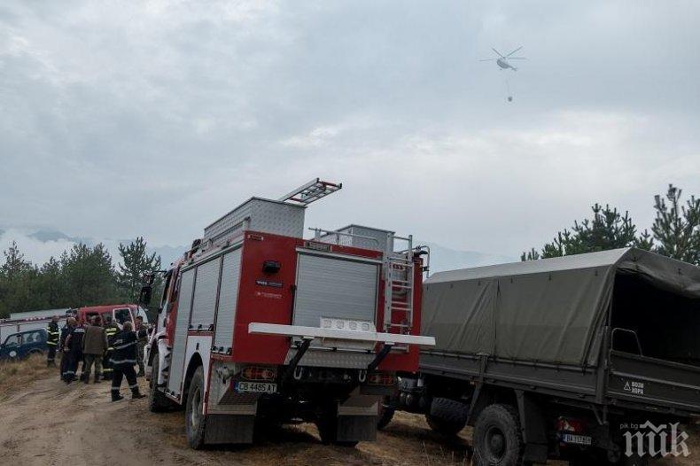 Загасиха пожара, избухнал в близост до хипермаркет във Варна