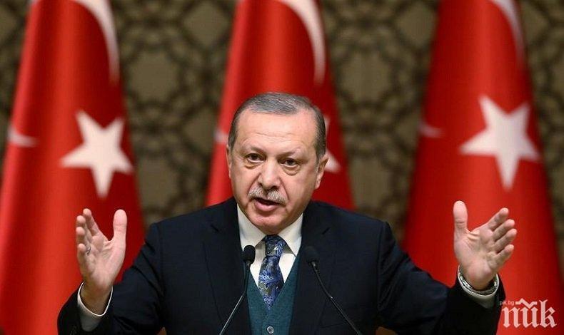 Ердоган: Турция ще защитава правата си в Източното Средиземноморие