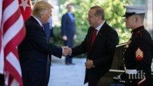 ГОРЕЩА ЛИНИЯ: Ердоган и Тръмп са обсъдили ситуацията в Сирия