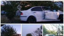 Патрулка се огъна в автомеле край Сарафово